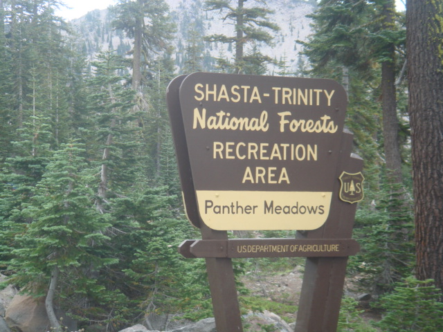 Panther Meadow Sign