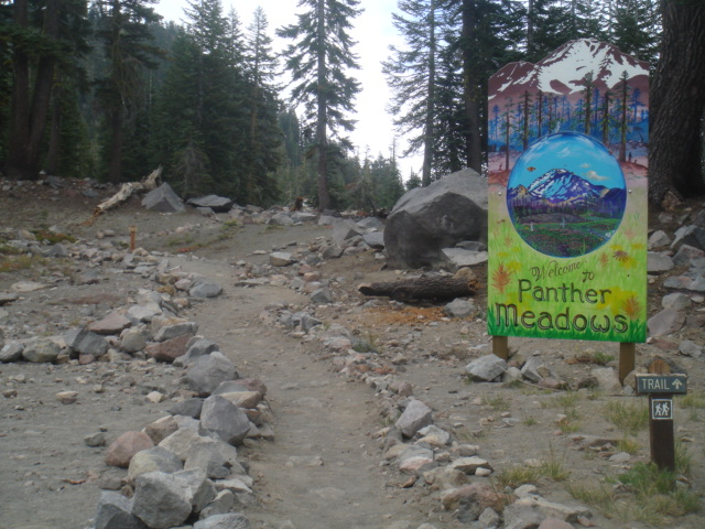 Panther Meadow Painted Sign