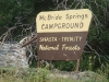 McBride Springs Campground Sign