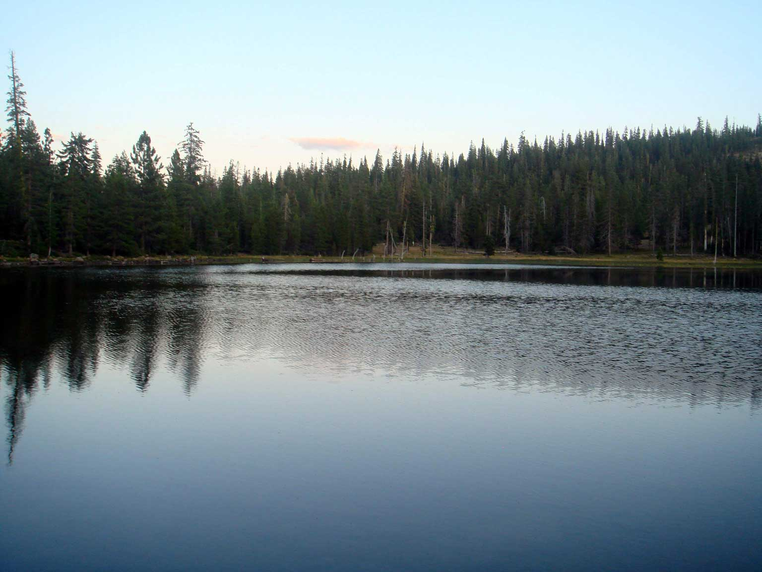 Gumboot Lake at Dusk