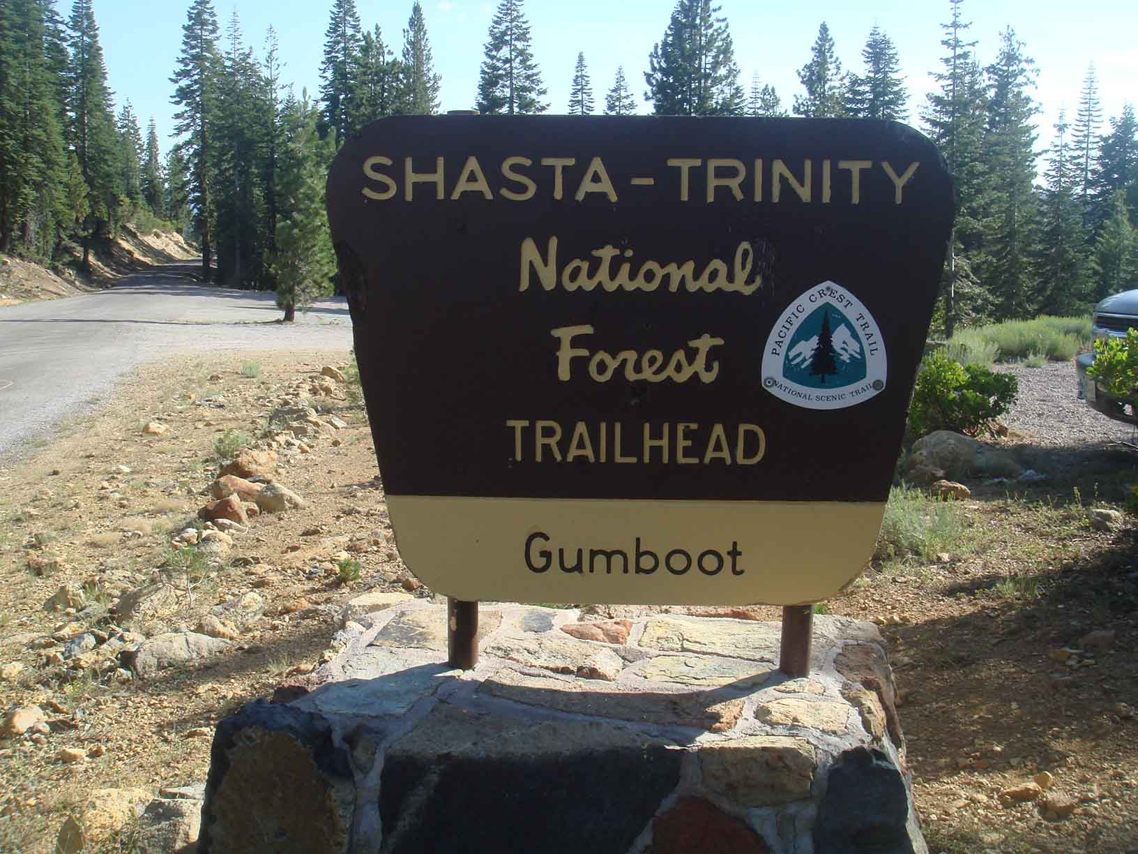 Gumboot Trailhead Sign