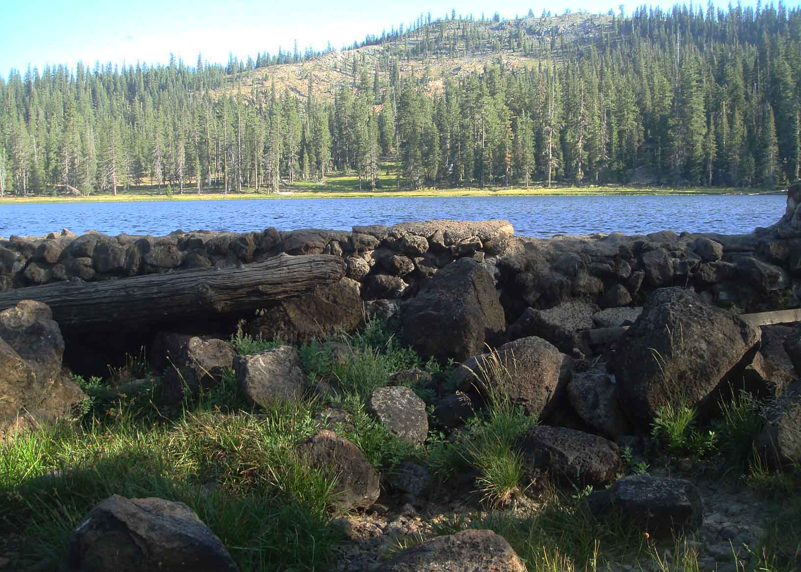 View of Gumboot Lake Dam