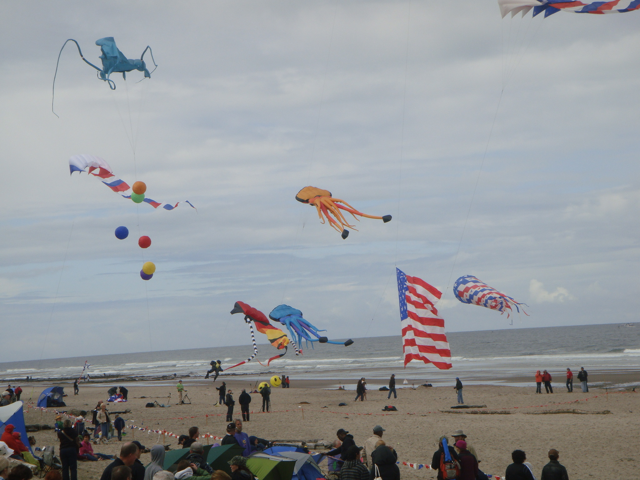 Three Kites controlled by Three People