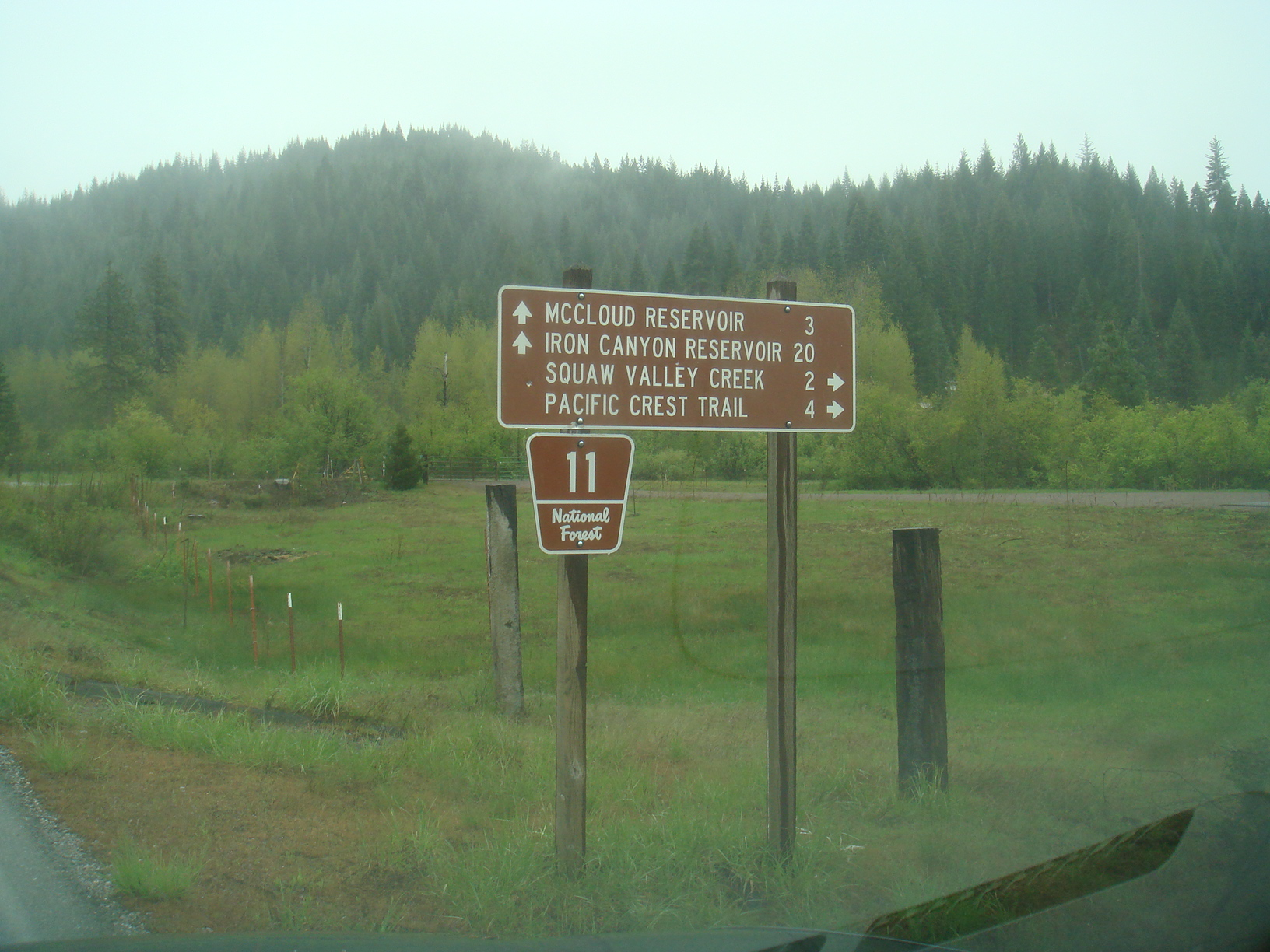 Sign on Squaw Valley Road, near Friday's RV Park