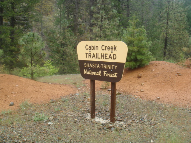 Cabin Creek Trailhead Sign