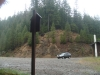 View of Cabin Creek Trail Parking Lot